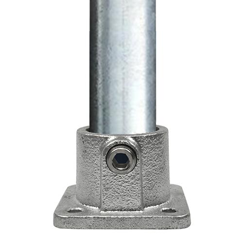 Doos Vierkante voetplaat met doorloop-F / 60,3 mm