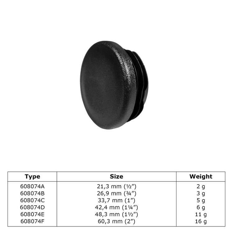Buiskoppeling Insteekdop plastic-F / 60,3 mm
