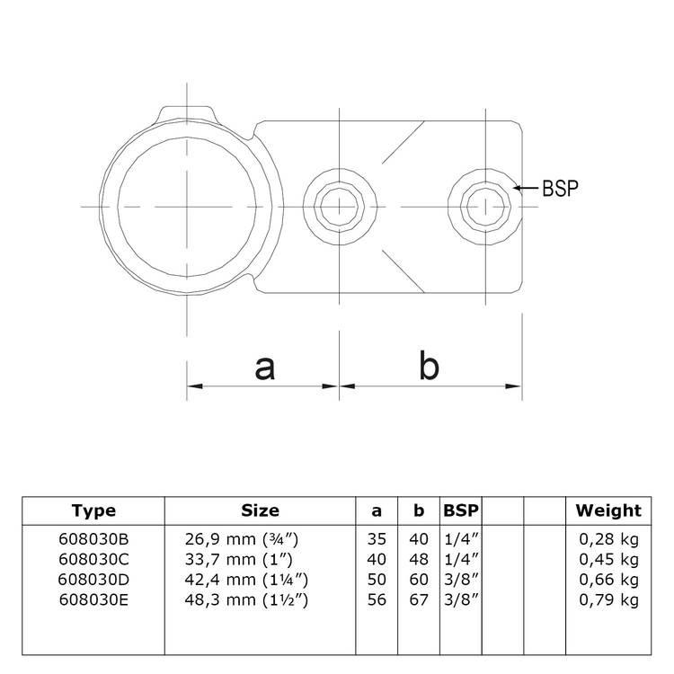 Doos Combi T-kruisstuk-D / 42,4 mm