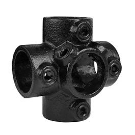 4-weg kruisstuk - zwart-E / 48,3 mm