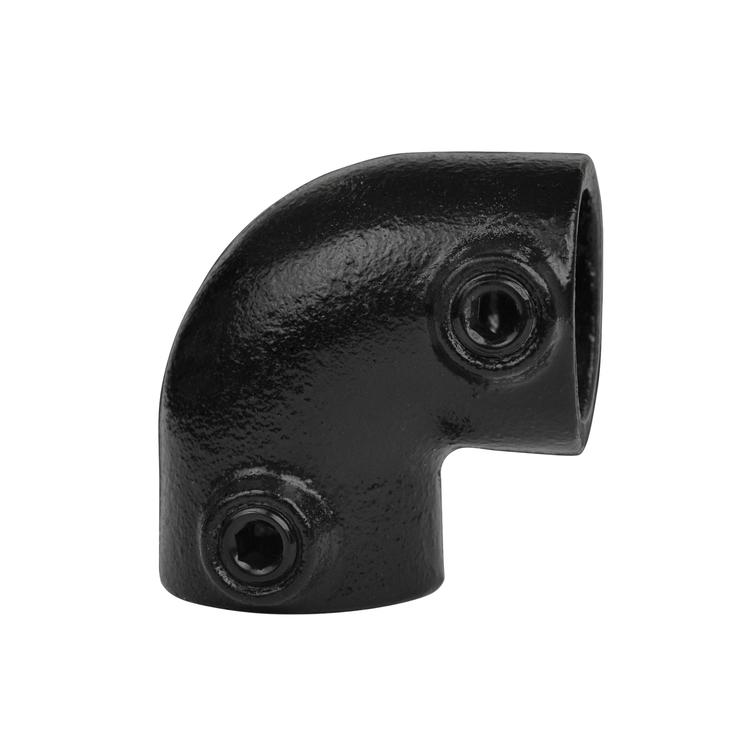 Doos Kniestuk 90° - zwart-B / 26,9 mm