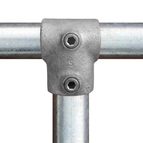 Buiskoppeling Kort T-stuk - verloop-ED / 48,3 mm - 42,4 mm