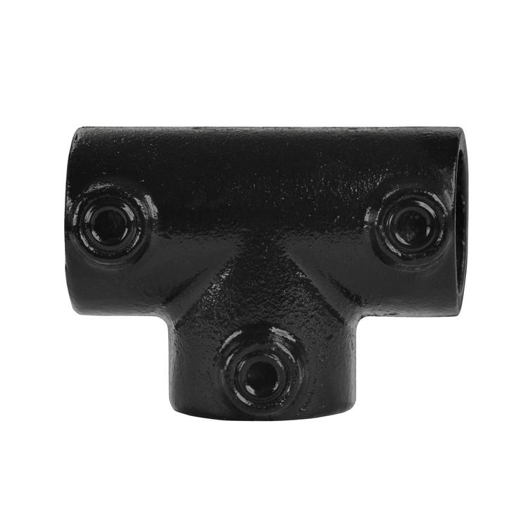 Doos Lang T-stuk - zwart-B / 26,9 mm