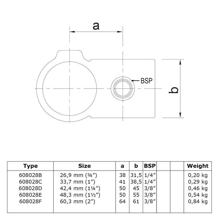 Doos Kruisstuk 90°-B / 26,9 mm