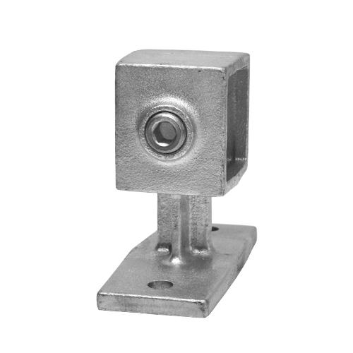 Buiskoppeling Leuningdrager - vierkant-25 mm