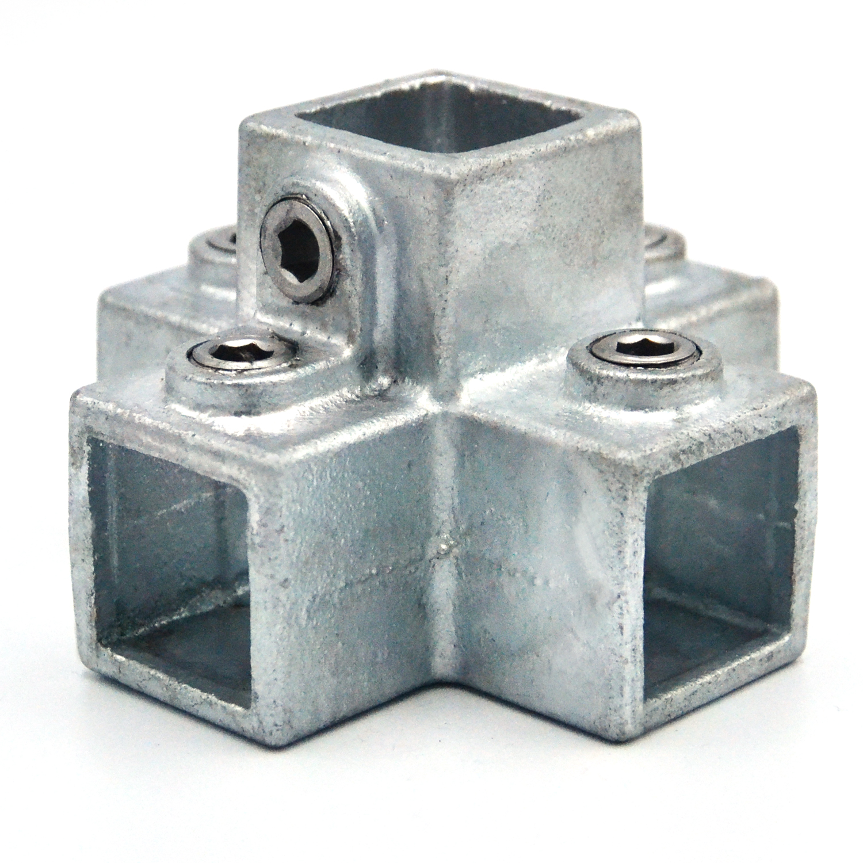 Buiskoppeling 4-weg kruisstuk - vierkant