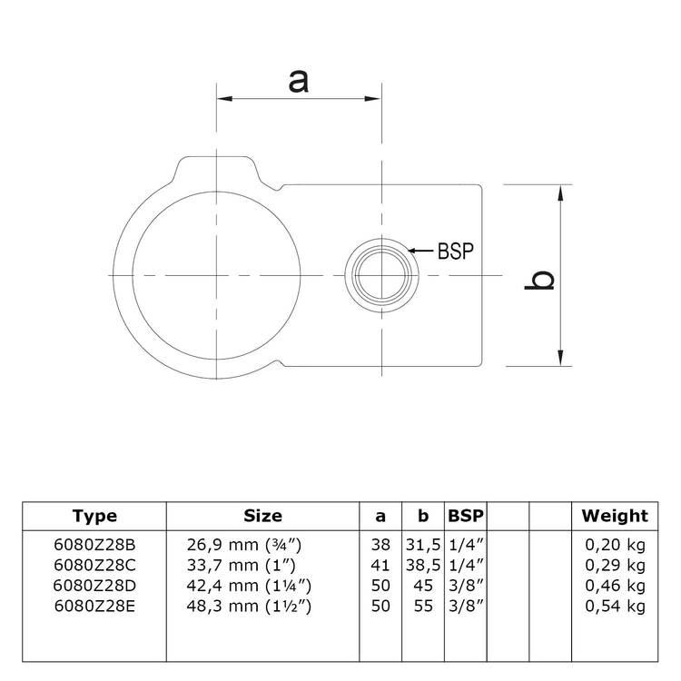Doos Kruisstuk 90° - zwart-B / 26,9 mm