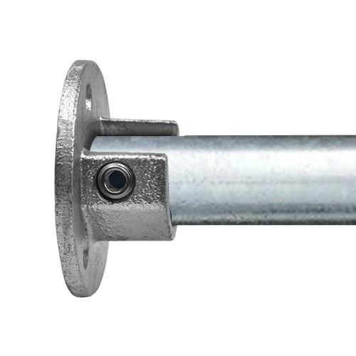 Buiskoppeling Ronde voetplaat met inleg 33,7mm