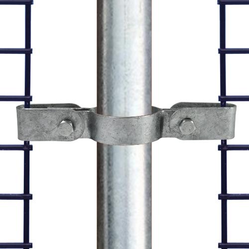 Buiskoppeling Gaasbevestigingsclip dubbel-D / 42,4 mm