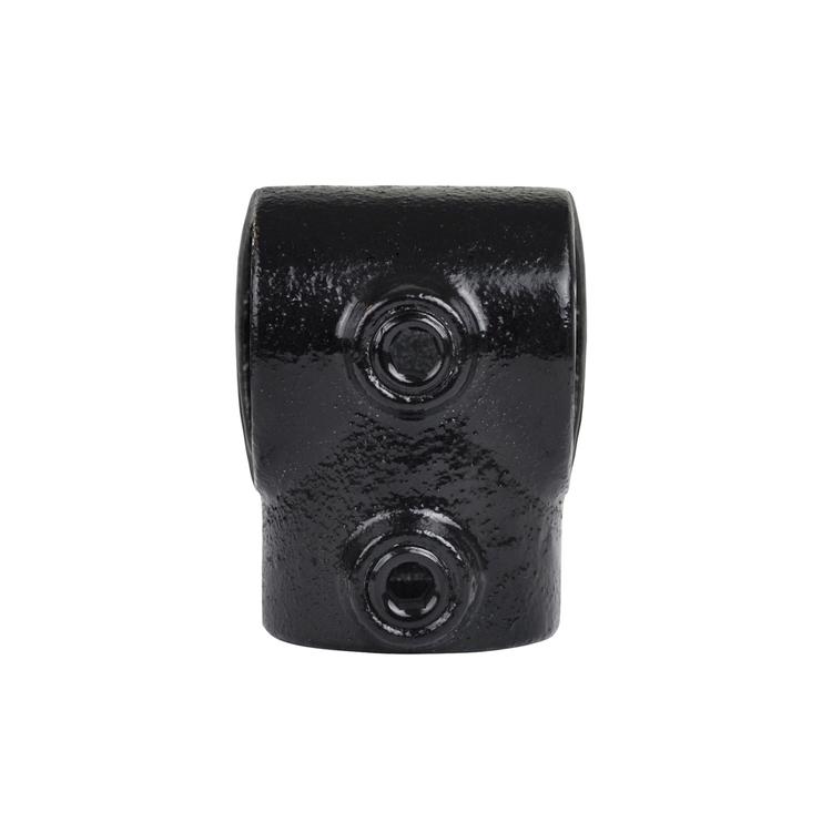 Doos Kort T-stuk - zwart-B / 26,9 mm