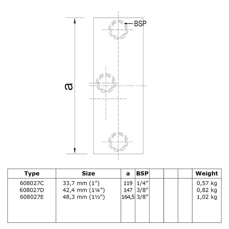 Buiskoppeling Railingbevestiging tot 45°