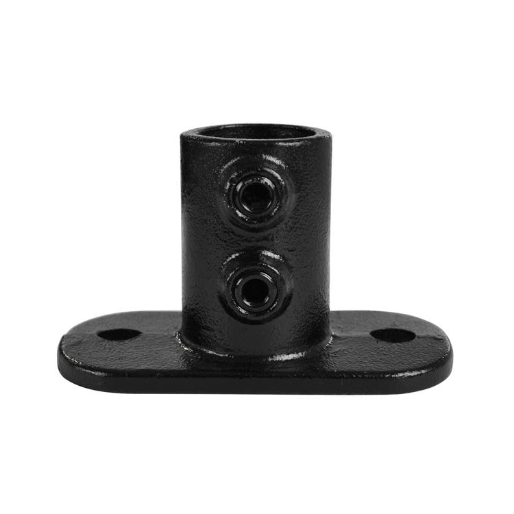 Doos Ovale voetplaat - zwart-B / 26,9 mm