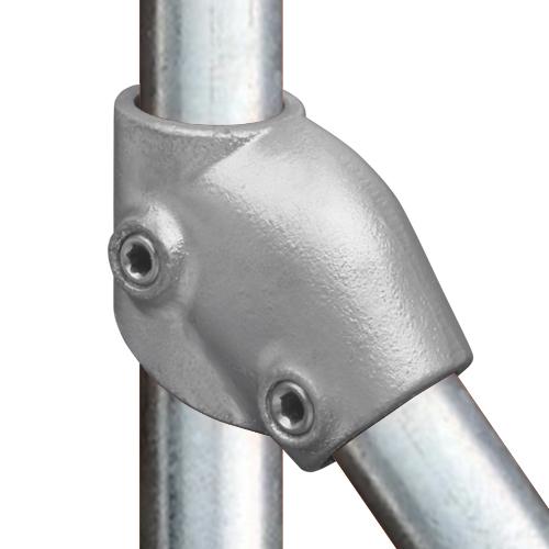 Buiskoppeling Verstelbaar kort T stuk-D / 42,4 mm